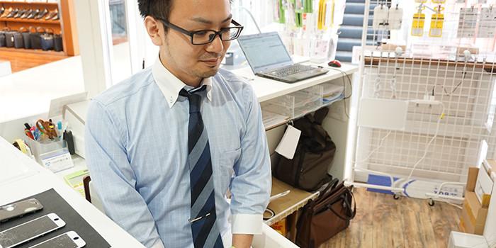 iPhone修理町田店インタビュー風景09