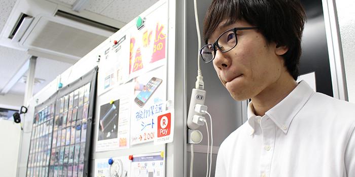 iPhone修理新宿南口店インタビュー風景08