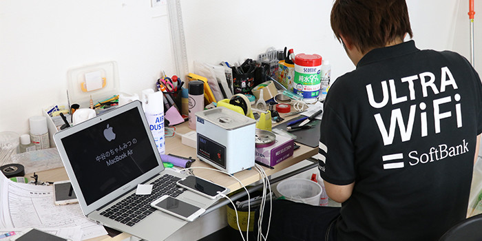 iPhone修理神奈川大和店インタビュー風景05
