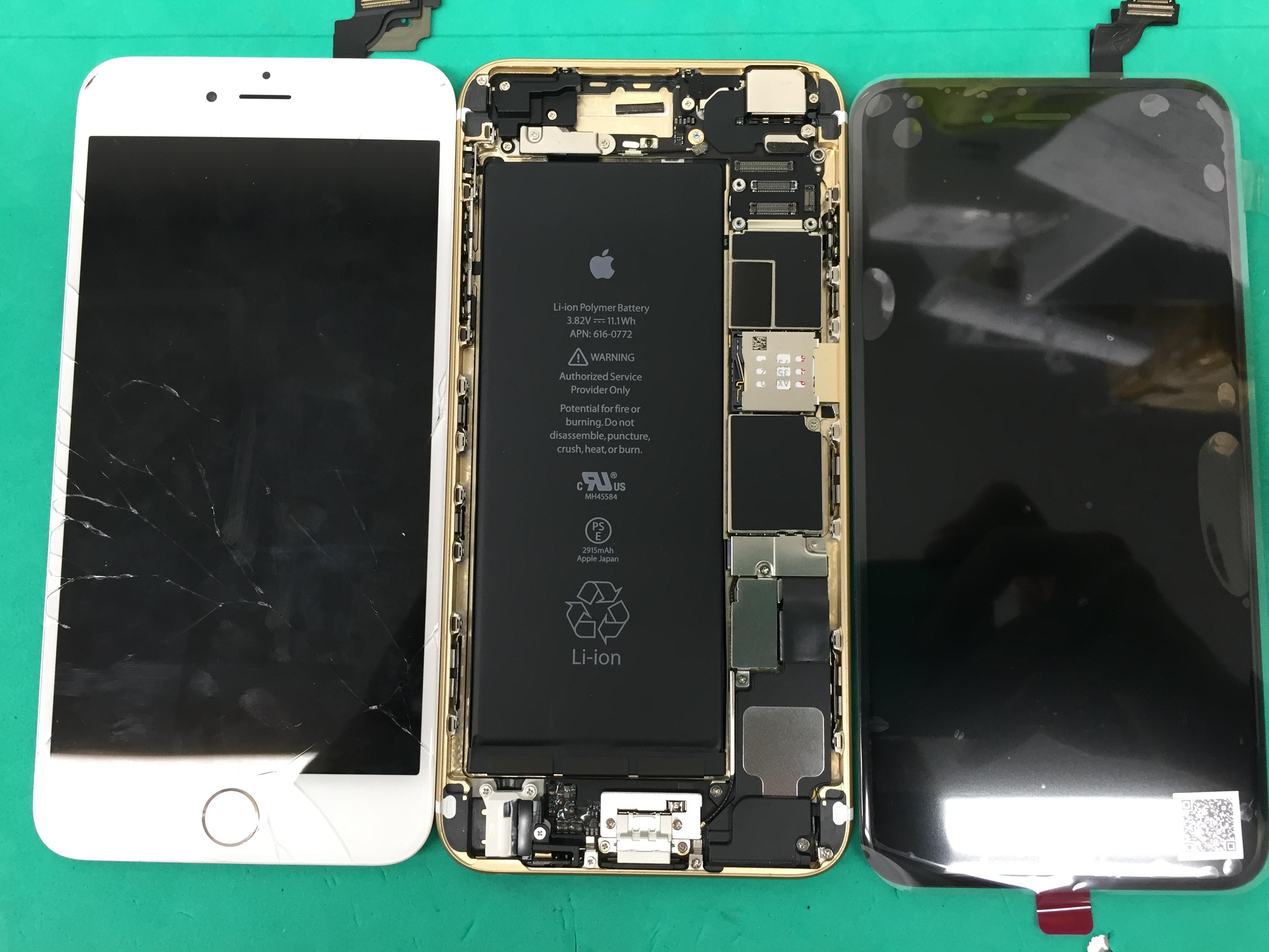iPhone 6の画面修理!そして、こんな裏ワザが!