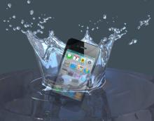 iPhoneが水没した時は